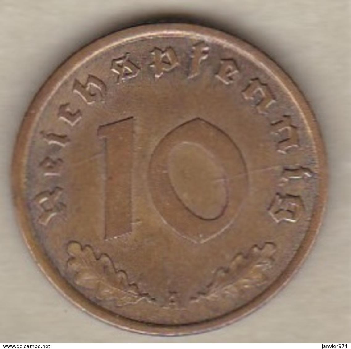 10 Reichspfennig 1938 A (BERLIN)  Bronze-aluminium - [ 4] 1933-1945: Derde Rijk