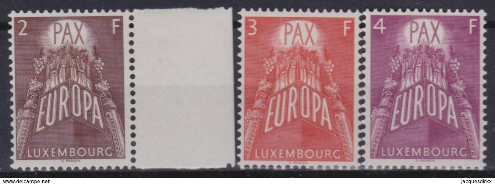 Luxembourg   .     Yvert  .    531/533    .      **       .    Postfris     .    /    .  Neuf SANS Charniere - Nuevos
