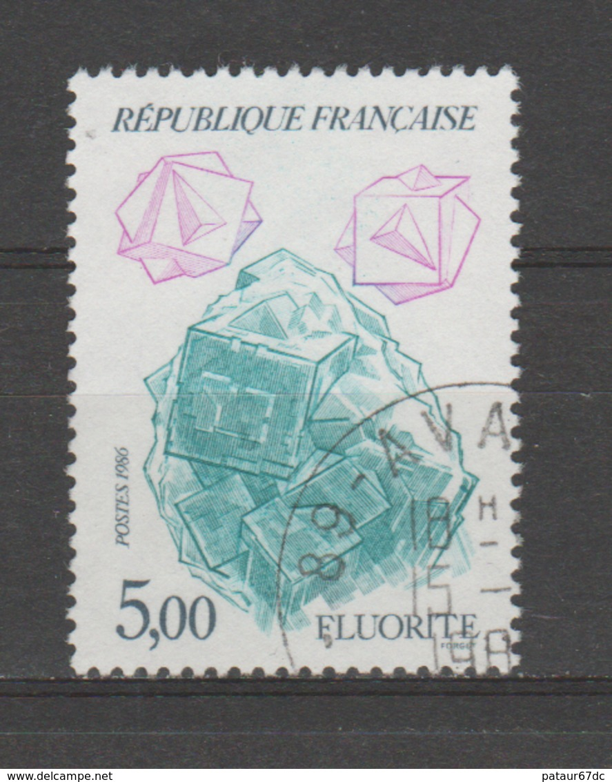 """FRANCE / 1986 / Y&T N° 2432 : """"Minéraux"""" (Fluorite) - Choisi - Cachet Rond - Frankreich"""