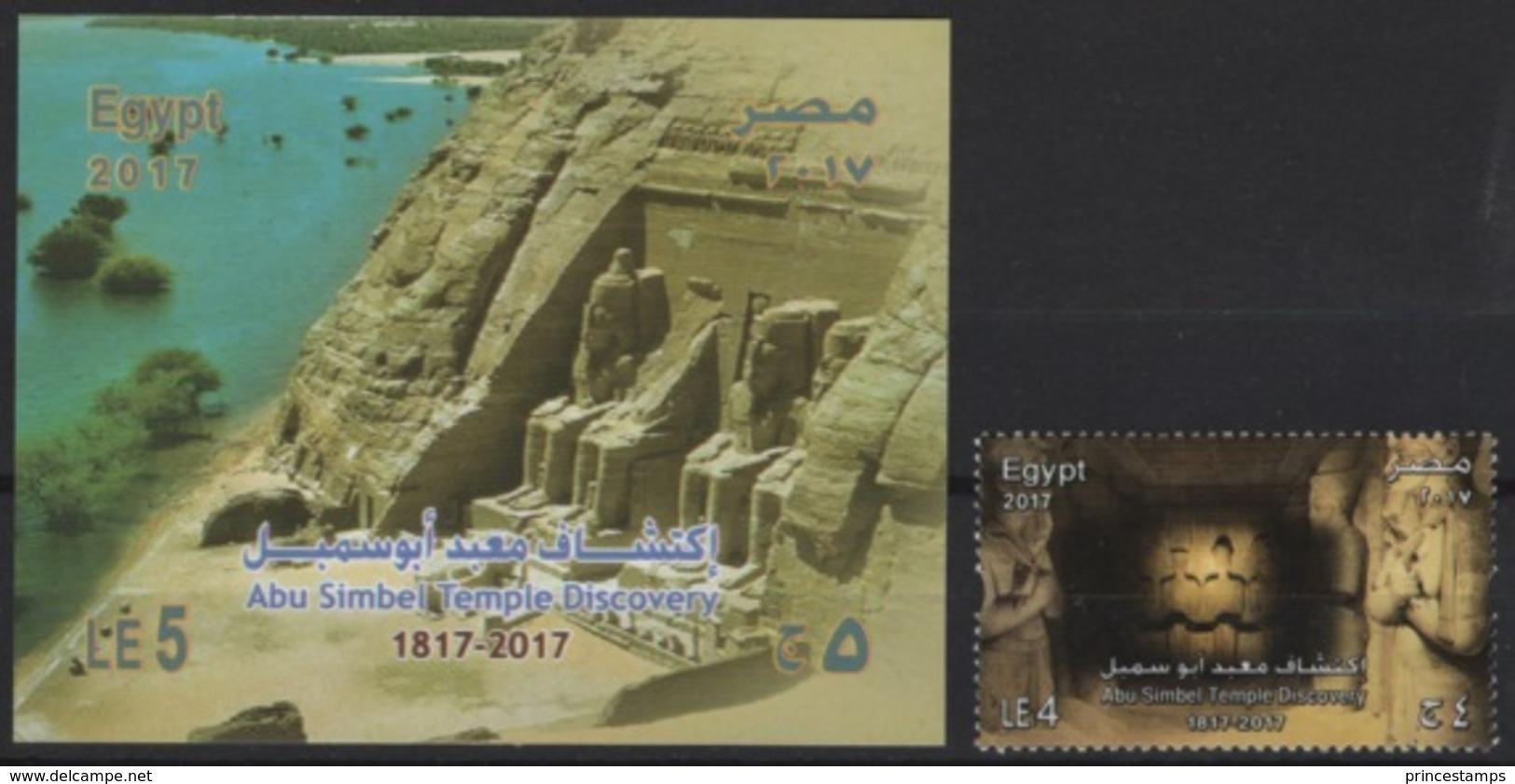 Egypt (2017) - Set + Block -  /   UNESCO World Heritage - Abu Simbel Temple Discovery - Egypte