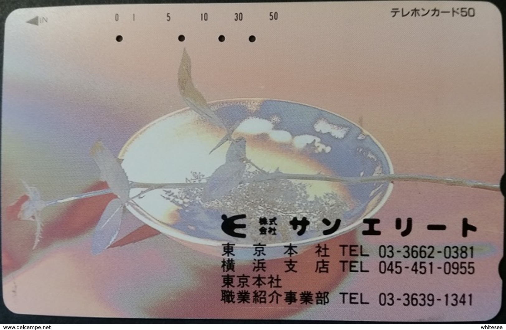 Telefonkarte Japan - Werbung -  Rose - 110-248 - Japan