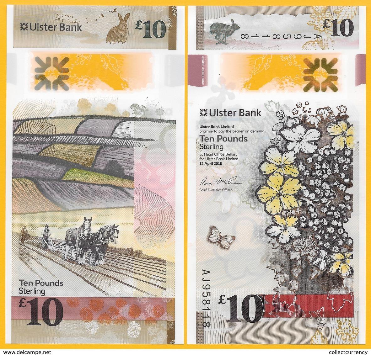 Northern Ireland 10 Pounds P-new 2018(2019) Ulster Bank UNC Banknote - Zonder Classificatie