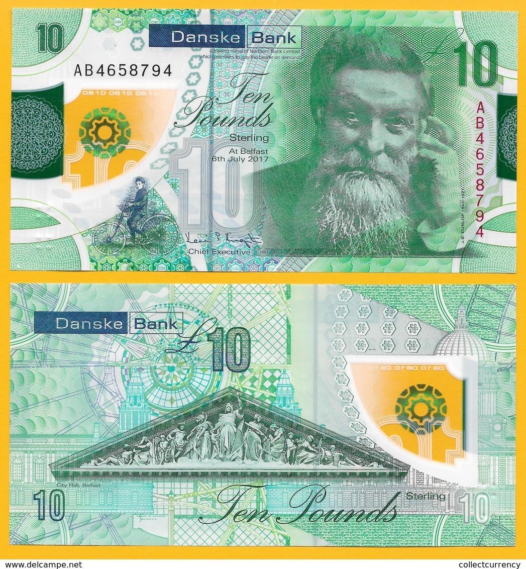Northern Ireland 10 Pounds P-new 2017(2019) Danske Bank UNC Banknote - Zonder Classificatie