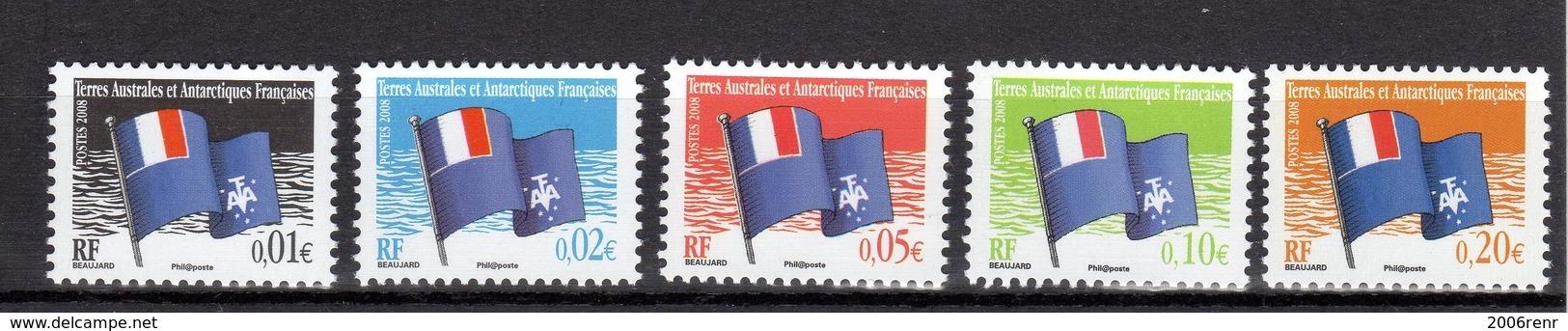 TAAF Poste 494/498 NEUFS** TRES BEAUX - Französische Süd- Und Antarktisgebiete (TAAF)