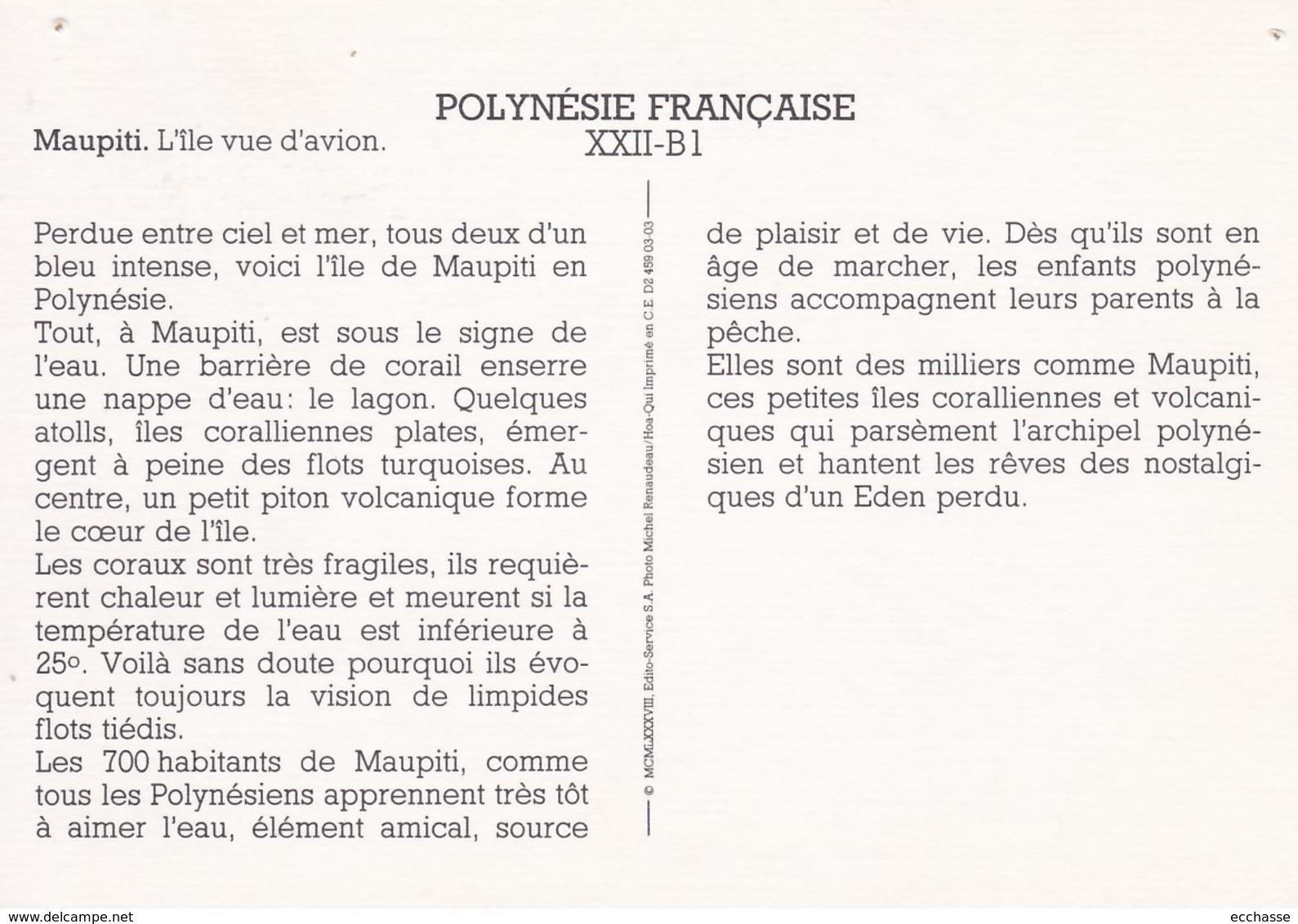 Polynesie Française Maupiti L'ile Vue D'avion (trous De Punaises) - Polynésie Française