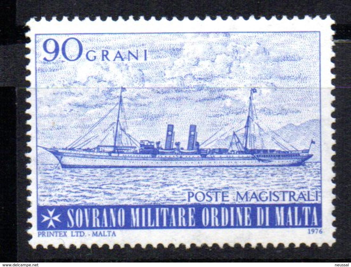 Sello  De 1976  Orden Militare De Malta.1 - Barcos