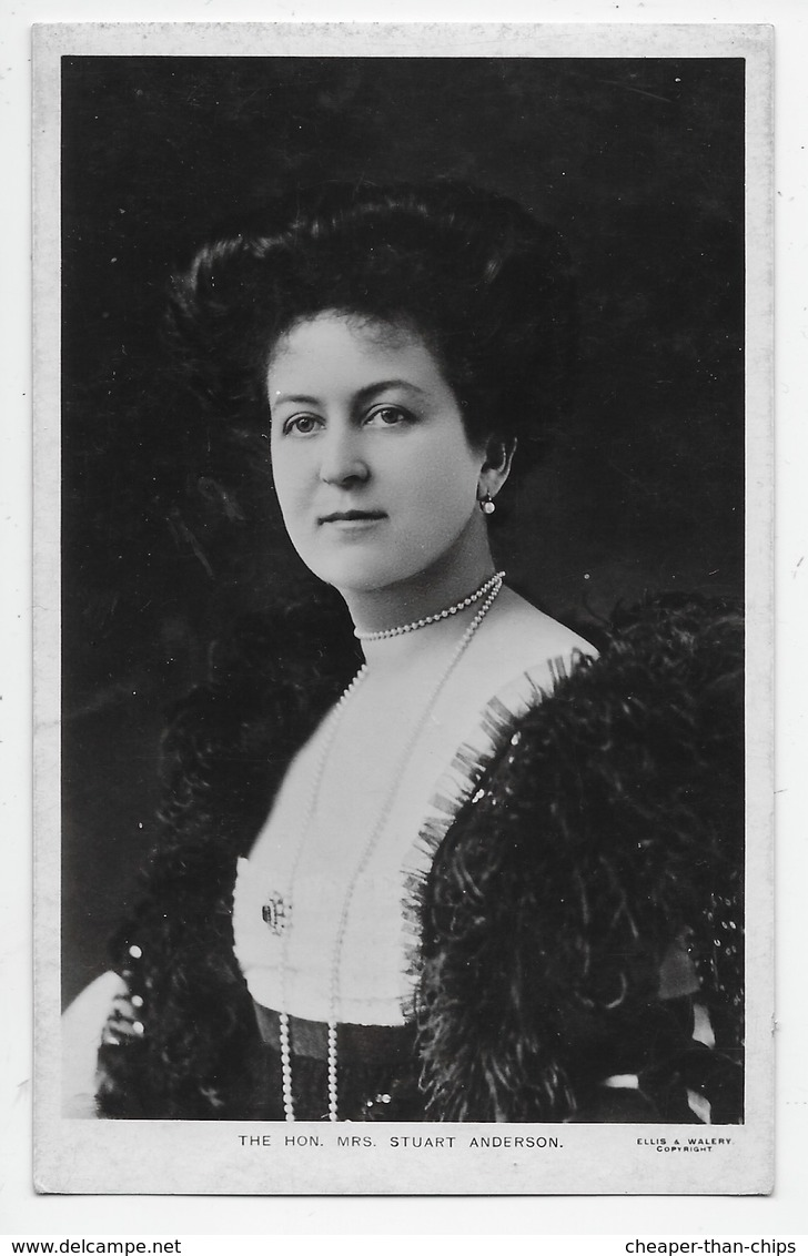 Edwardian Aristocratic Fashion - The Hon Mrs. Stuart Anderson - Fashion