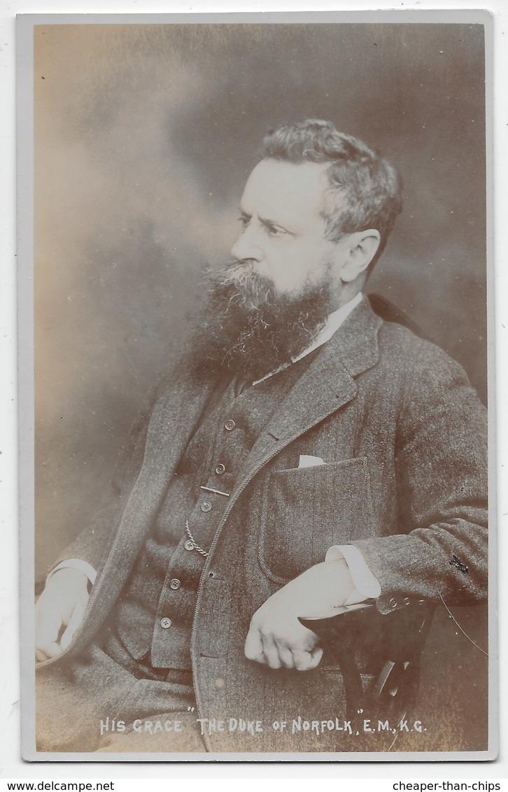 "His Grace ""The Duke Of Norfolk"" E.M., K.G. - Photo White Of Littlehampton - Other Famous People"