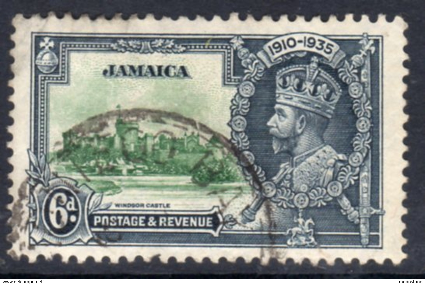 Jamaica GV 1935 Silver Jubilee 6d Value, Used, SG 116 (A) - Jamaica (...-1961)