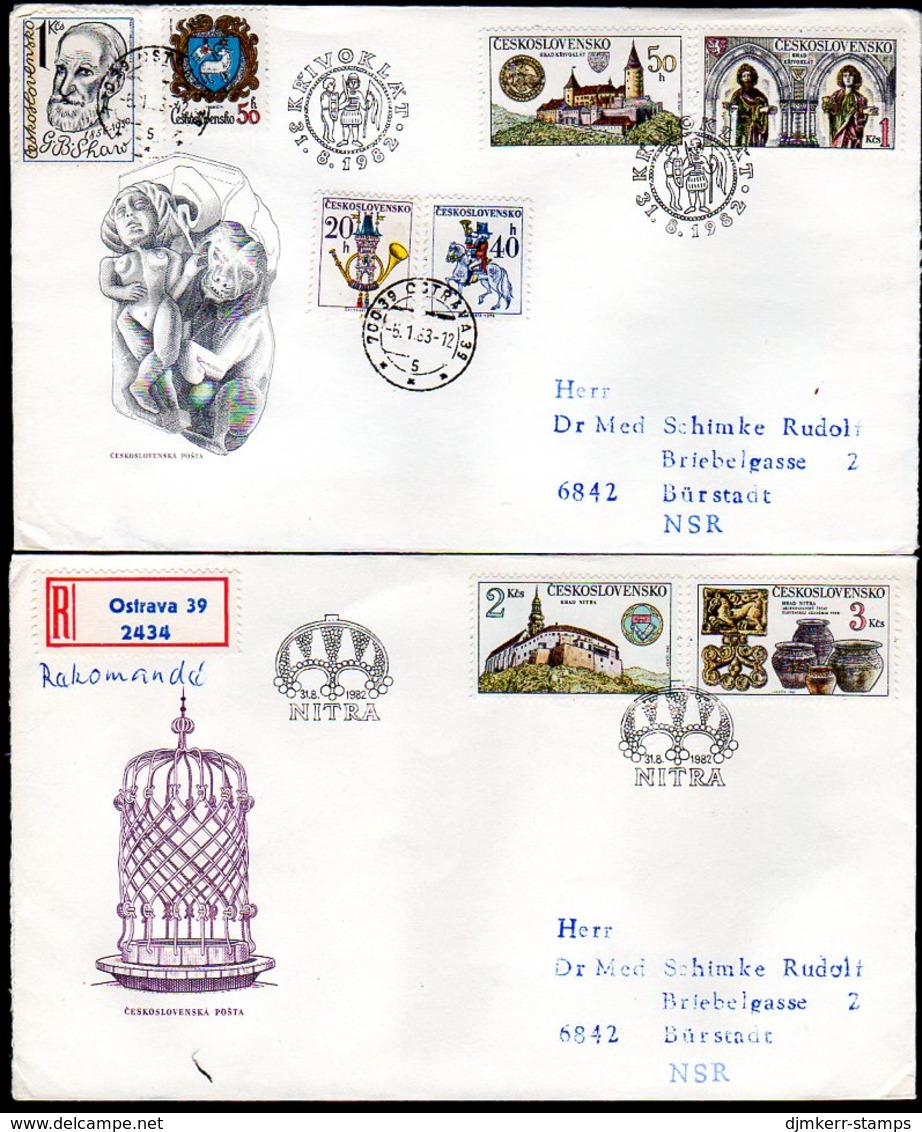 CZECHOSLOVAKIA 1982 Castles FDC.  Michel 2671-74 - FDC