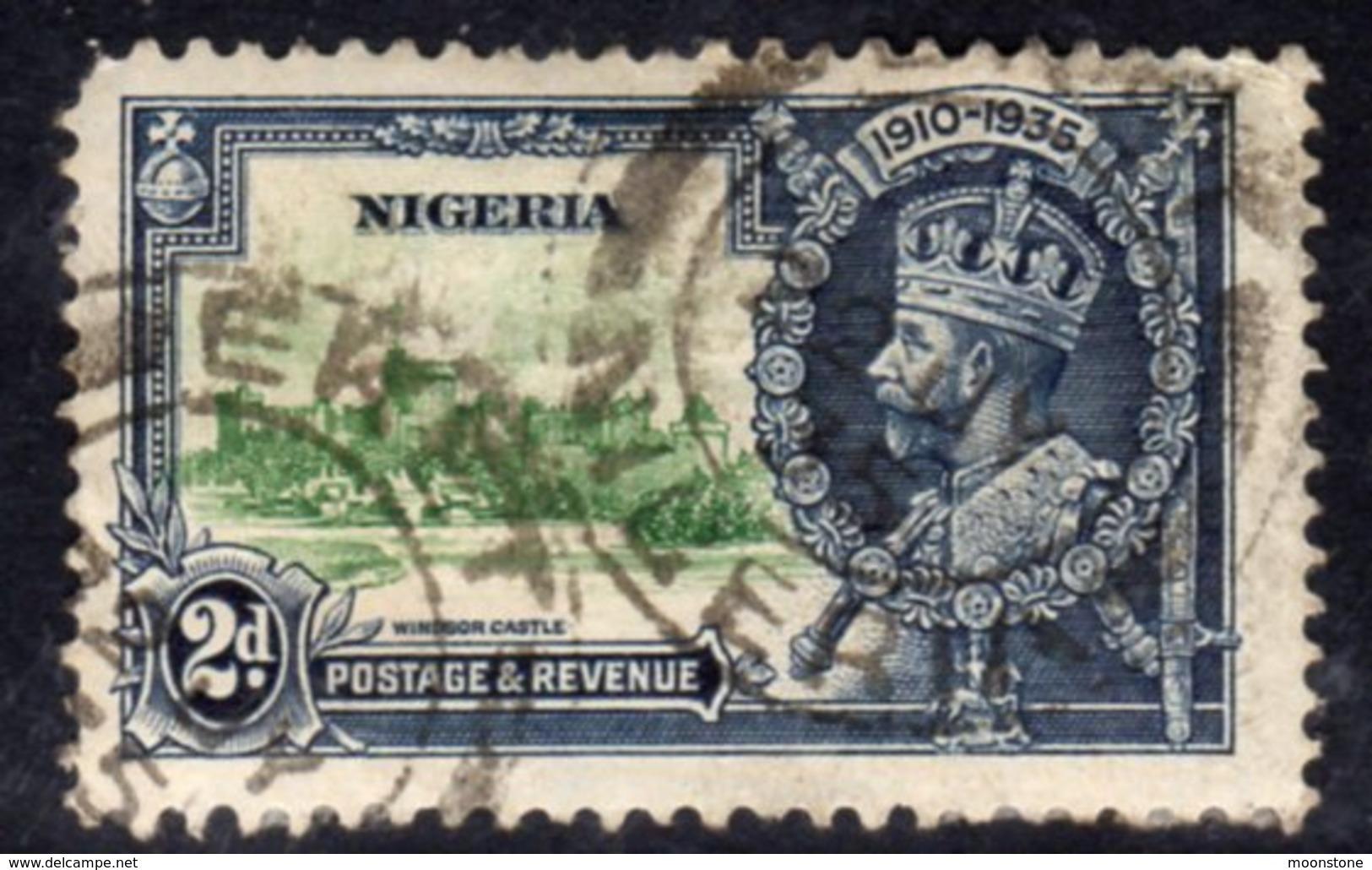 Nigeria GV 1935 Silver Jubilee 2d Value, Used, SG 31 (A) - Nigeria (...-1960)