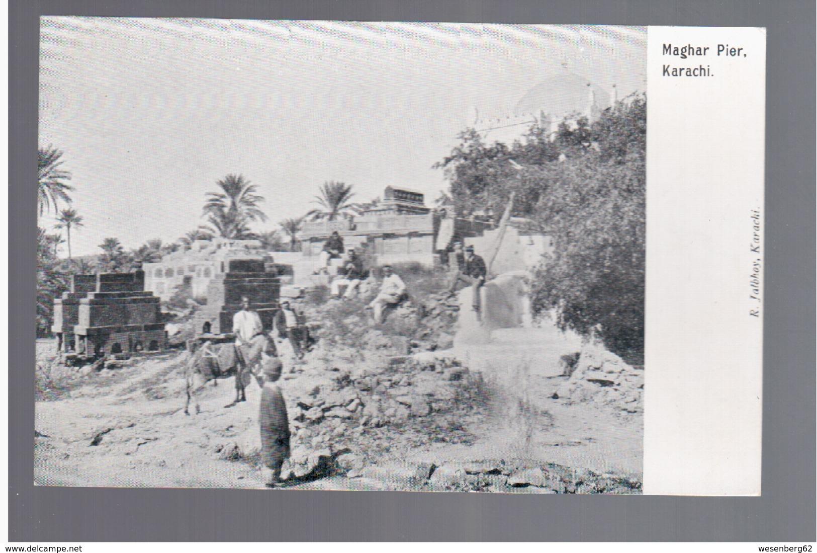 PAKISTAN Karachi, Maghar Pier Ca 1905 OLD POSTCARD - Pakistan