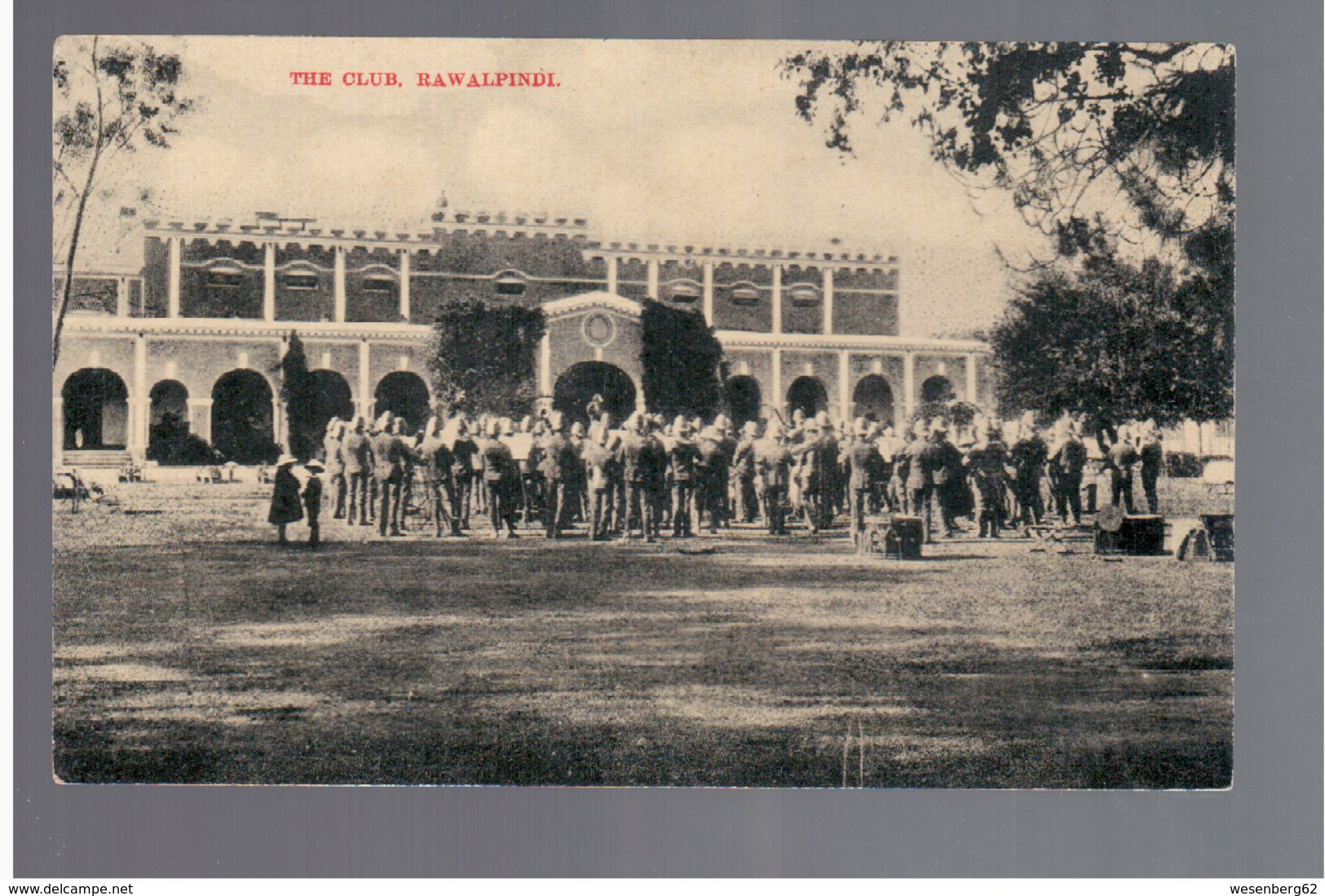 PAKISTAN Rawalpindi Club Ca 1920 OLD POSTCARD - Pakistan