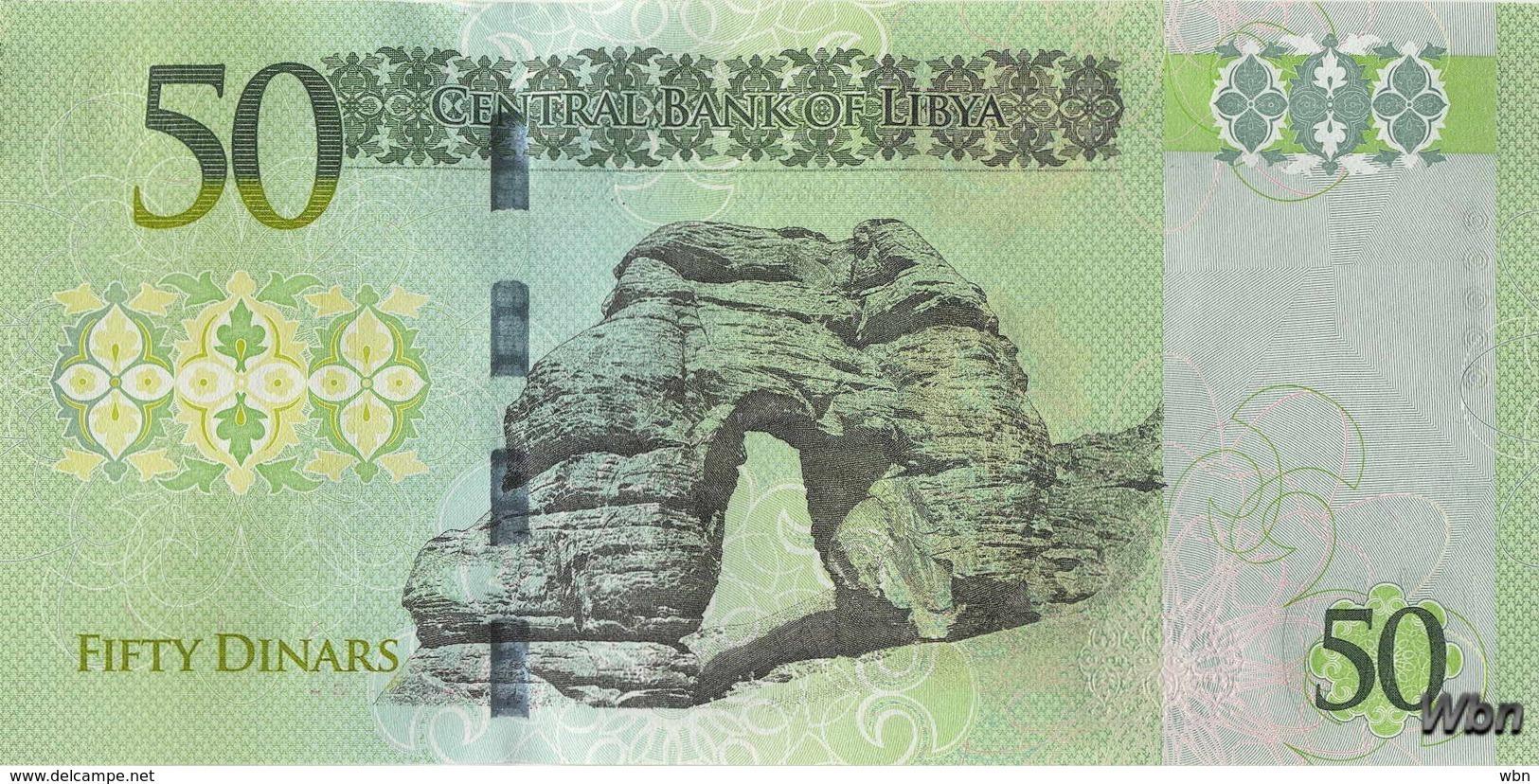 Libya 50 Dinars (P84) 2016 -UNC- - Libya