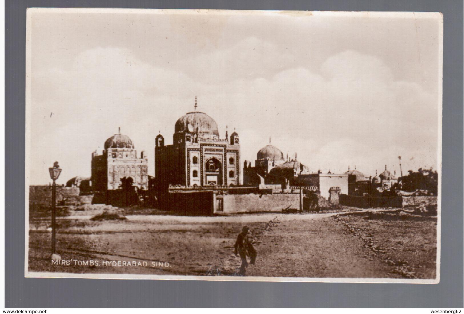 PAKISTAN Mirs' Tombs, Hyderabad Sind OLD PHOTO POSTCARD - Pakistan