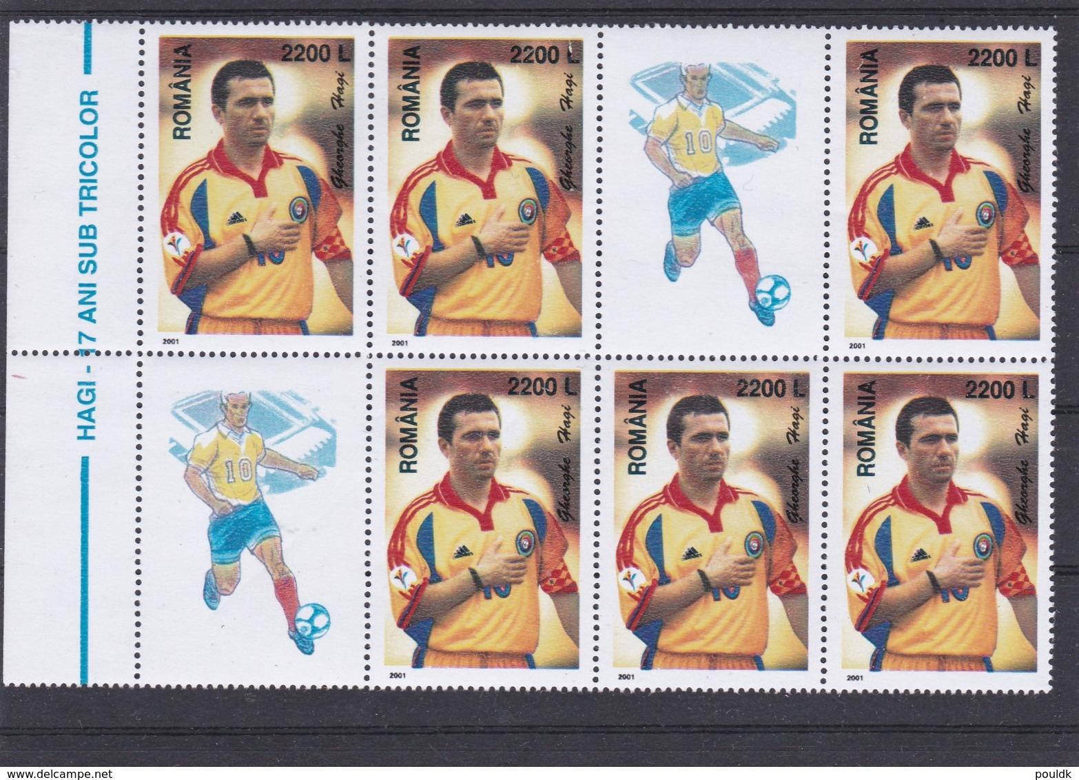Romania 2001 Hagi Football Player  MNH/** (H49) - Voetbal