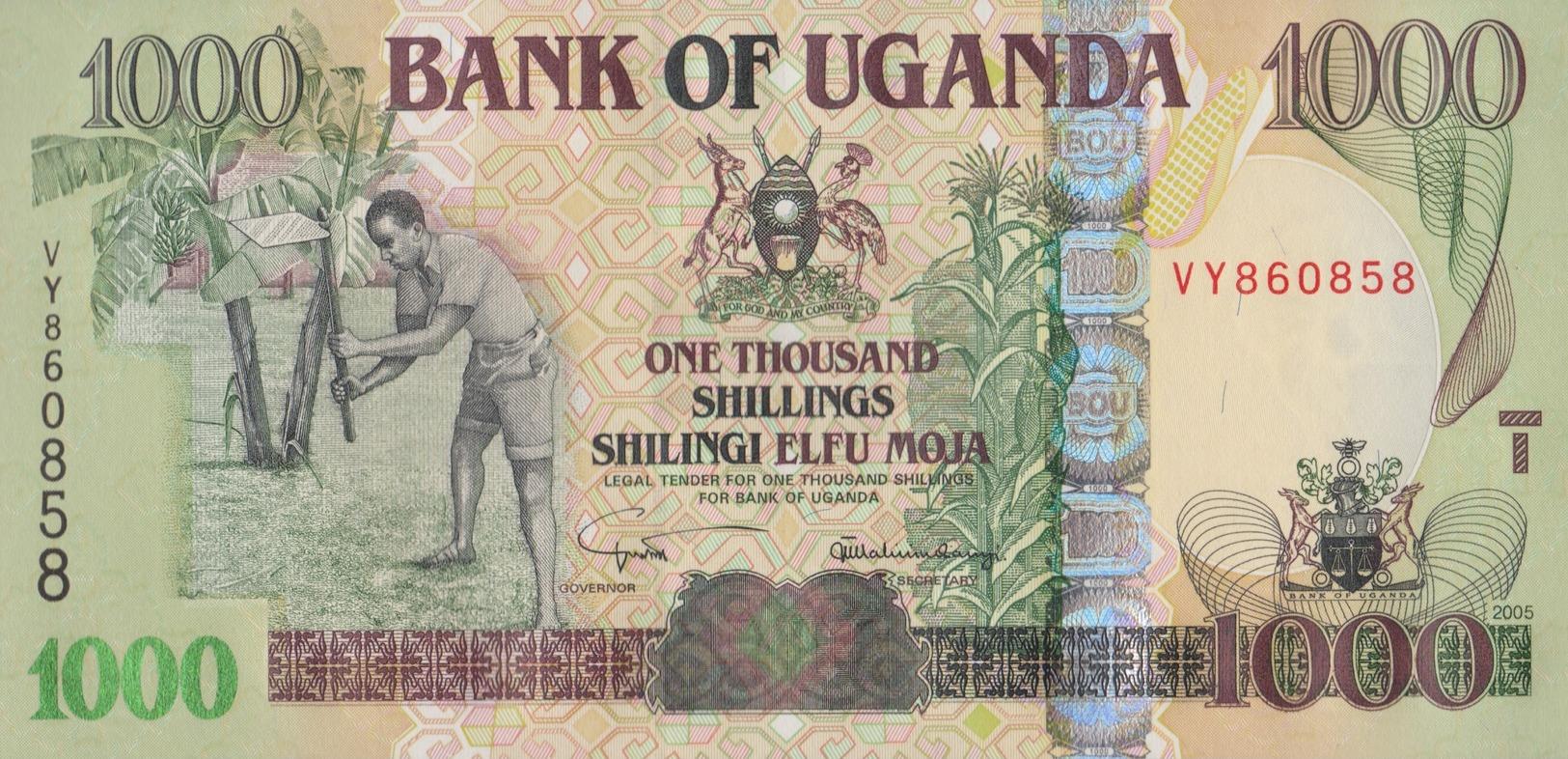 Ouganda / 100 Shillings / 2005 / P-43(a) / UNC - Ouganda
