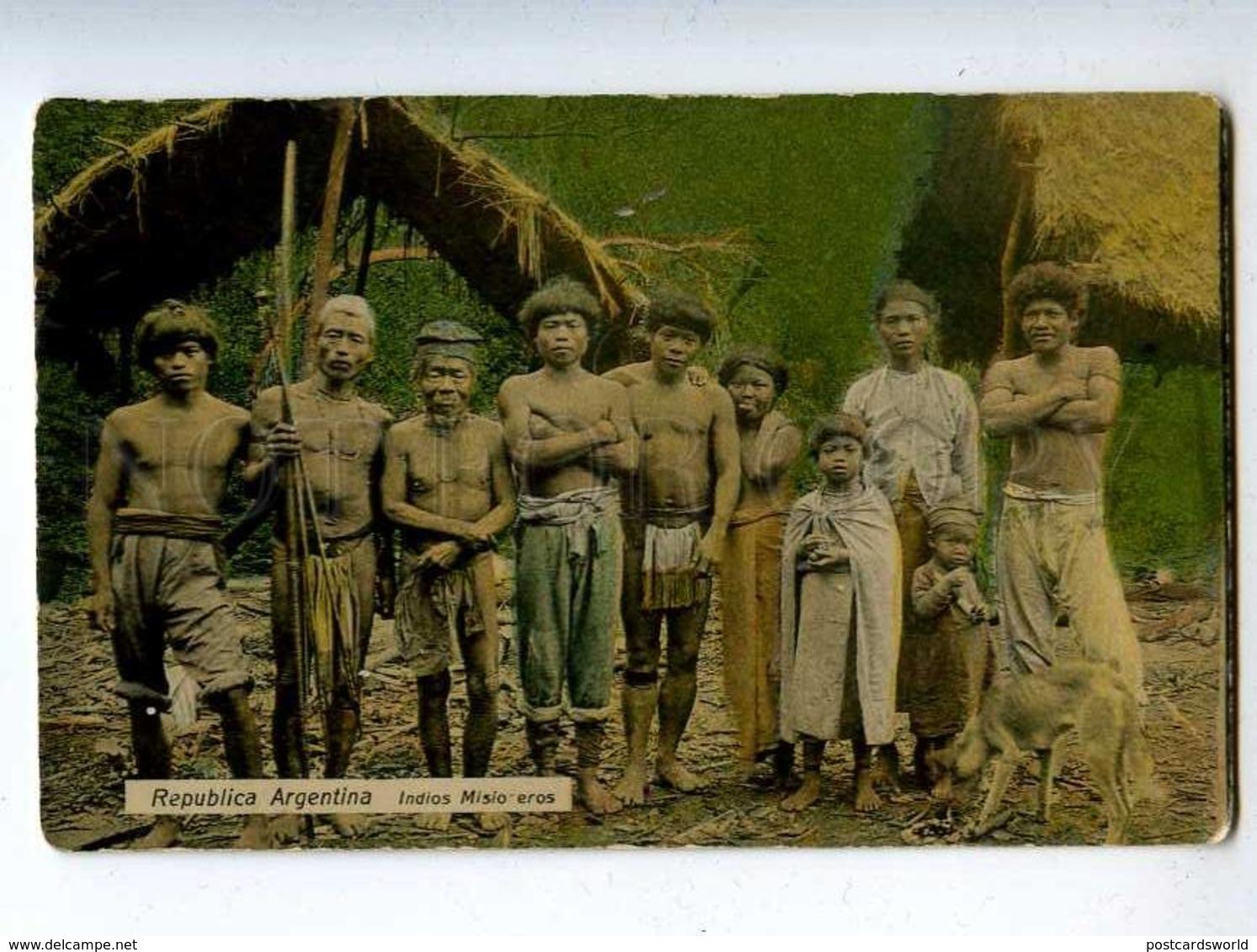 206606 ARGENTINA Indian Missionaries Vintage Photo Postcard - America