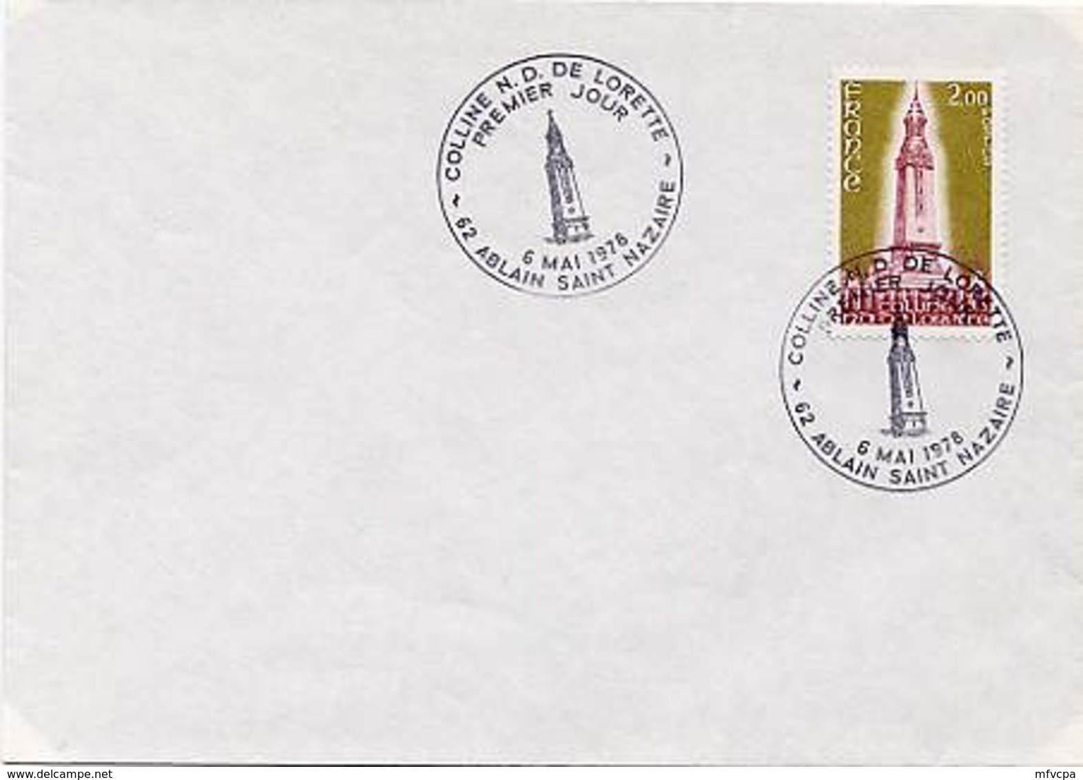 CL561 Cachet Comm GF-PJ/ YvT 2010 Colline ND De Lorette Ablain Saint Nazaire 06 05 1978 - Marcophilie (Lettres)