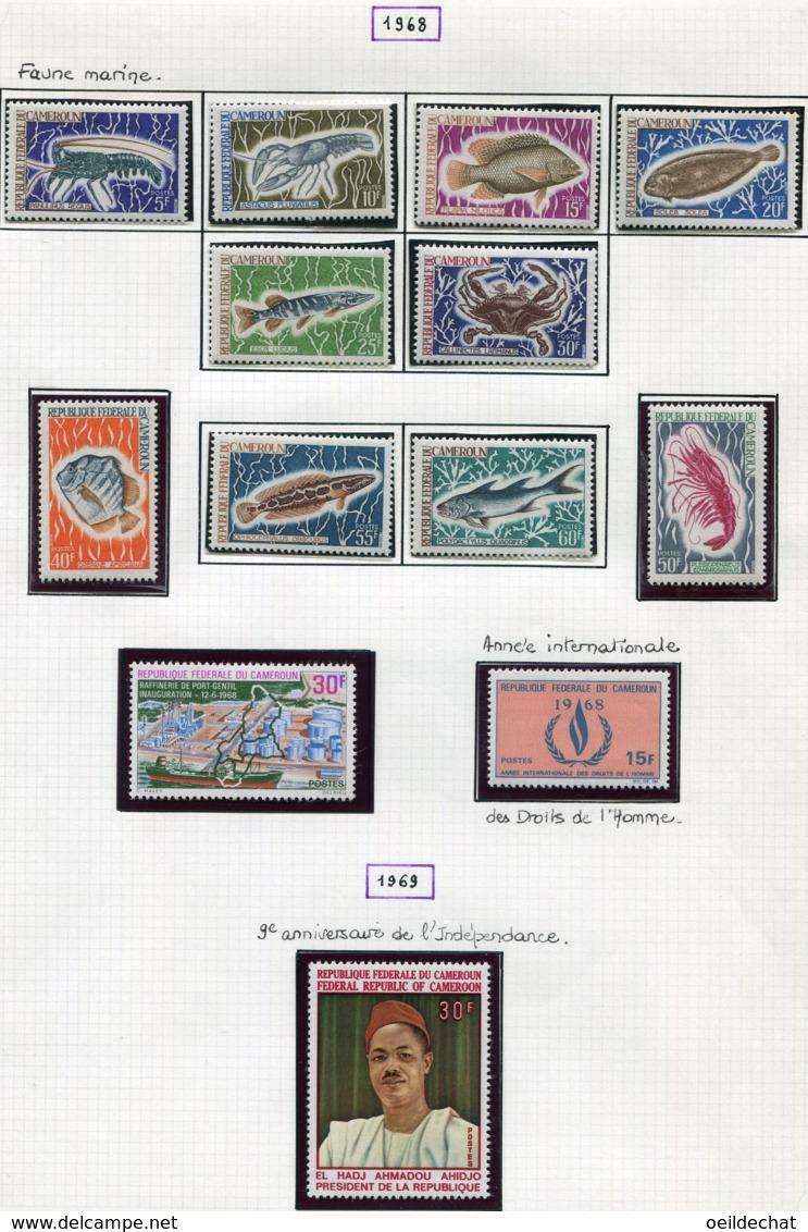 12508 CAMEROUN N° 456/65, 466, 467, 468    **/ *  1968-69  TB/TTB - Camerun (1960-...)