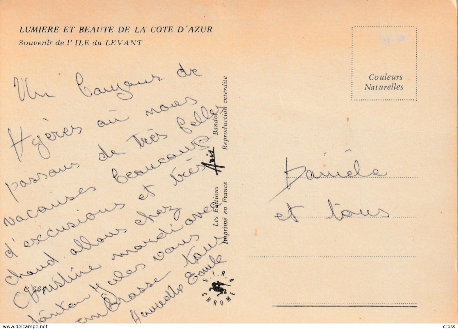 LE DU LEVANT / NU , NATURISME , NATURISTE MULTIVUES - Francia