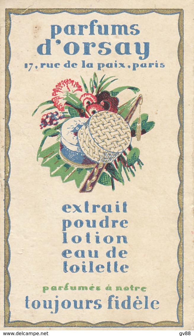 Carte Parfumée Des Parfuns D' Orsay - Vintage (until 1960)