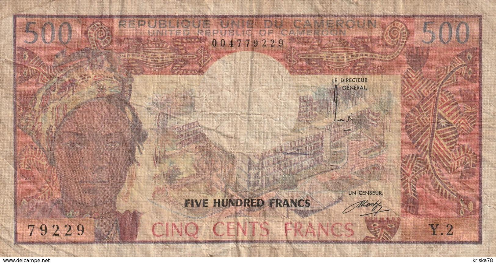500 FRANCS 1983 - Kameroen