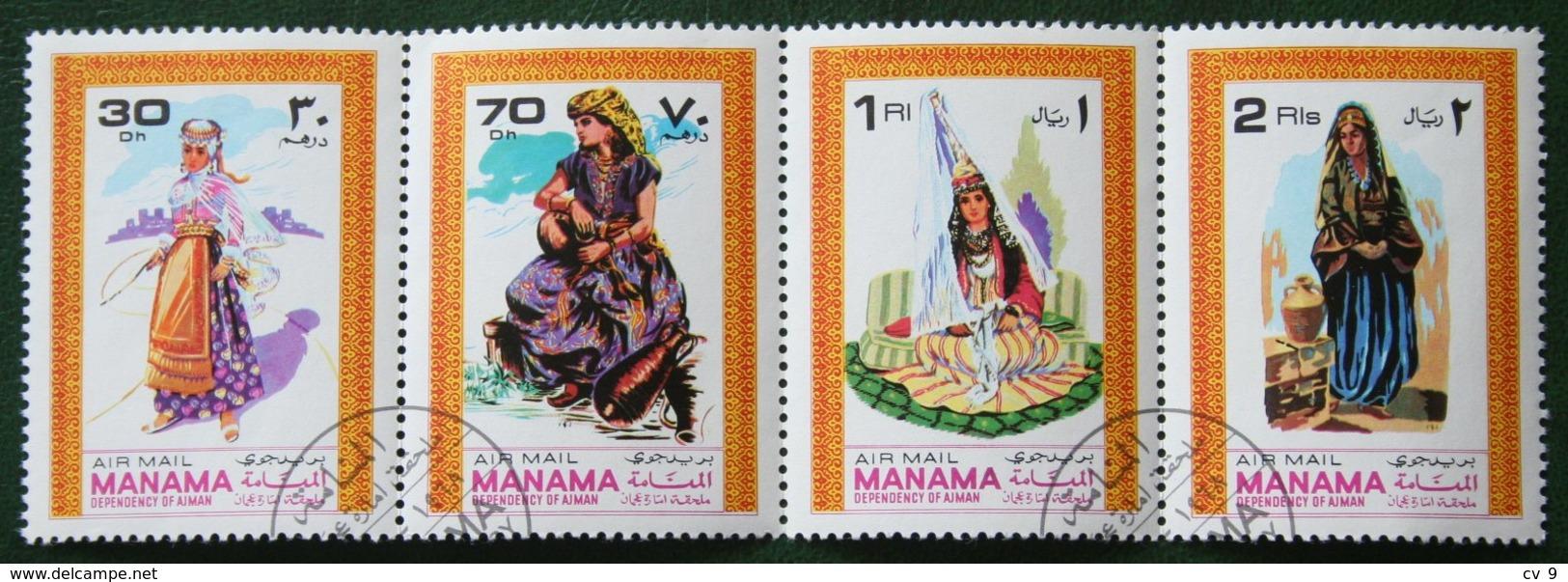 Costumes Traditionnels Trachten  AIRMAIL 1968 (Mi 333 YT 328) Used Gebruikt Oblitere MANAMA - Manama