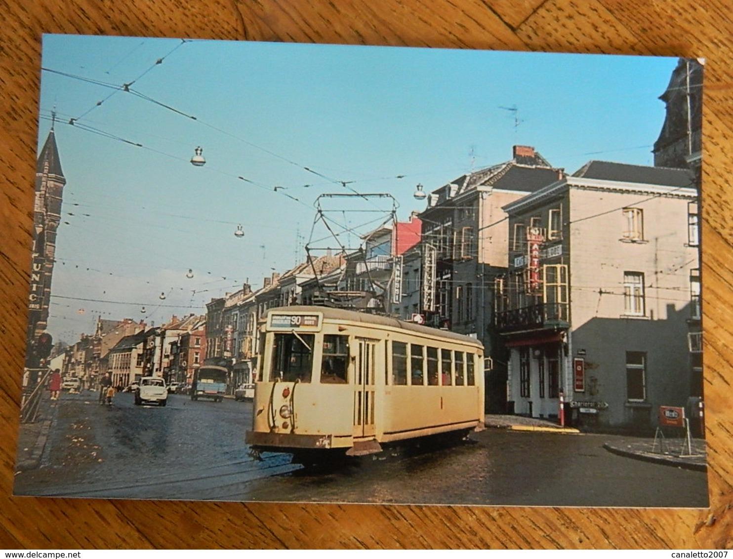 BINCHE +TRAM:PHOTO 10X15 -TRAM -LE TRAM DANS LA GRAND-RUE LE 7/3/1973 - Binche