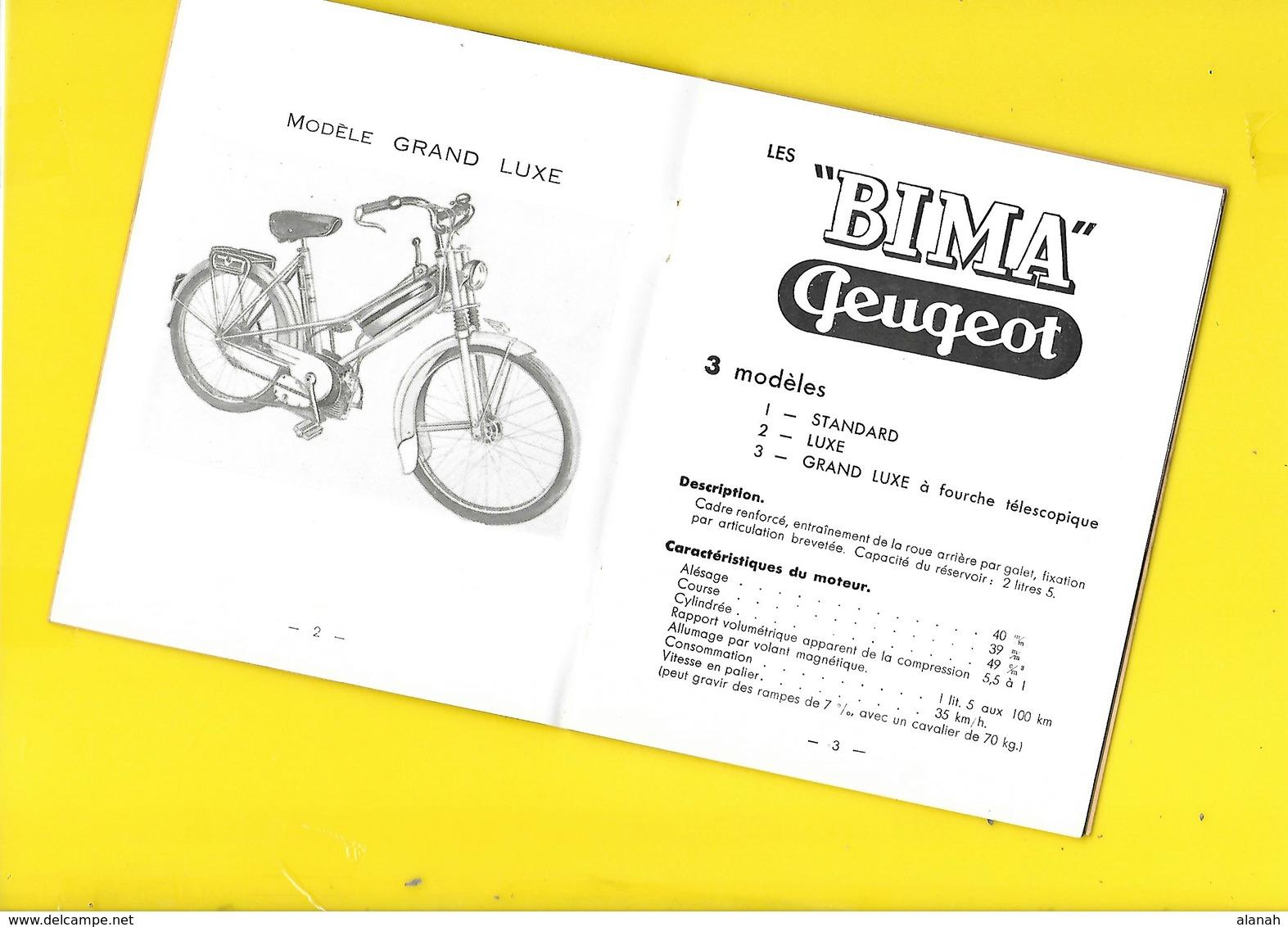 """Notice Technique """"PEUGEOT"""" Mobylette BIMA Format 12 X 15 Cm Env. - Motos"""