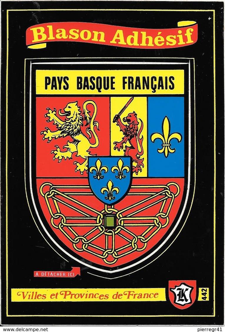 CARTE -AUTOCOLLANT-ECUSSON ADHESIF-KROMA-PAYS BASQUE FRANCAIS-TBE - Autocollants