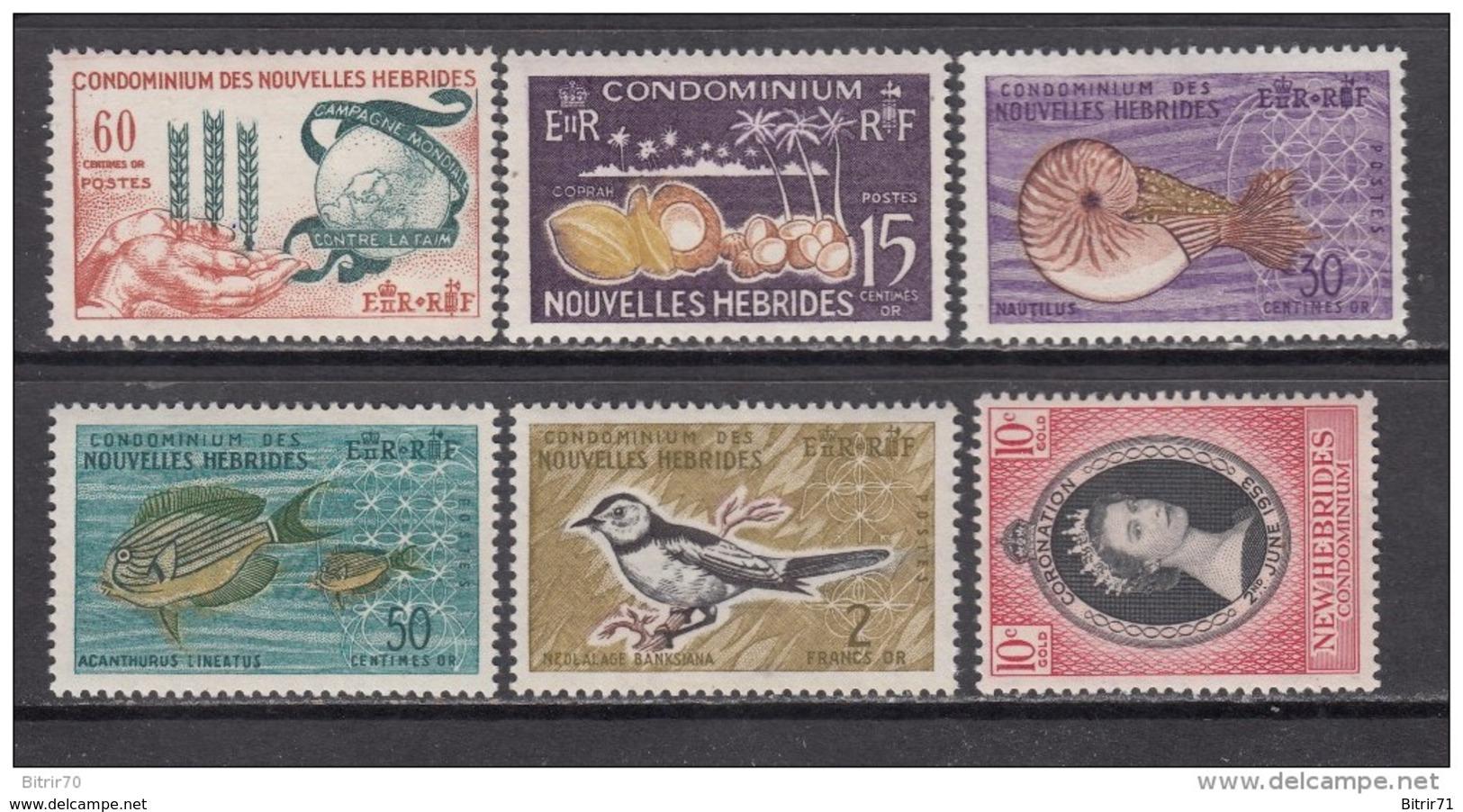 1953 - 1963   YVERT  Nº  166 , 197 , 203 / 206    ** / * - Nuevos