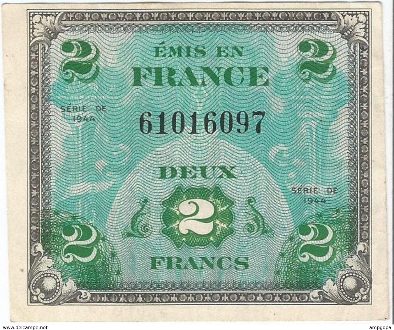 Francia 2 Francs 1944 Pk 114 A Sin Bloque Ref 3171-2 - Francia