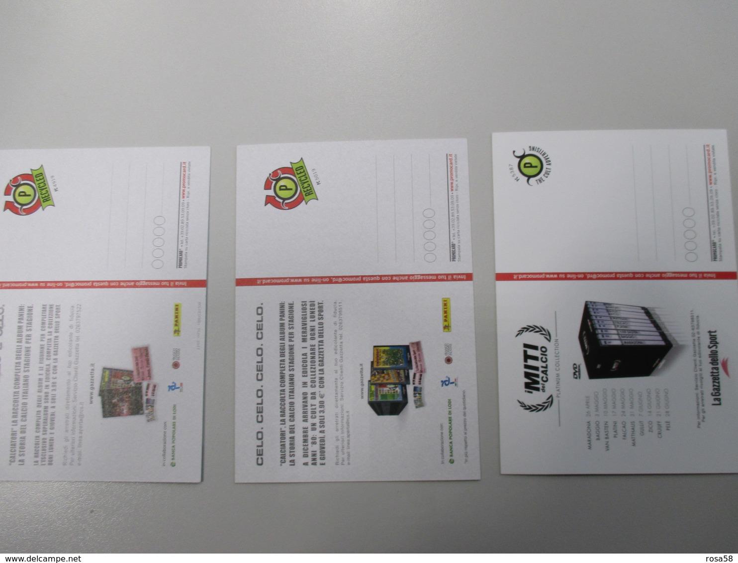 CALCIO Soccer Football Maradona Ramon Angel DIAZ Dino Zoff Promocard N.3 Cartoline Differenti - Calcio
