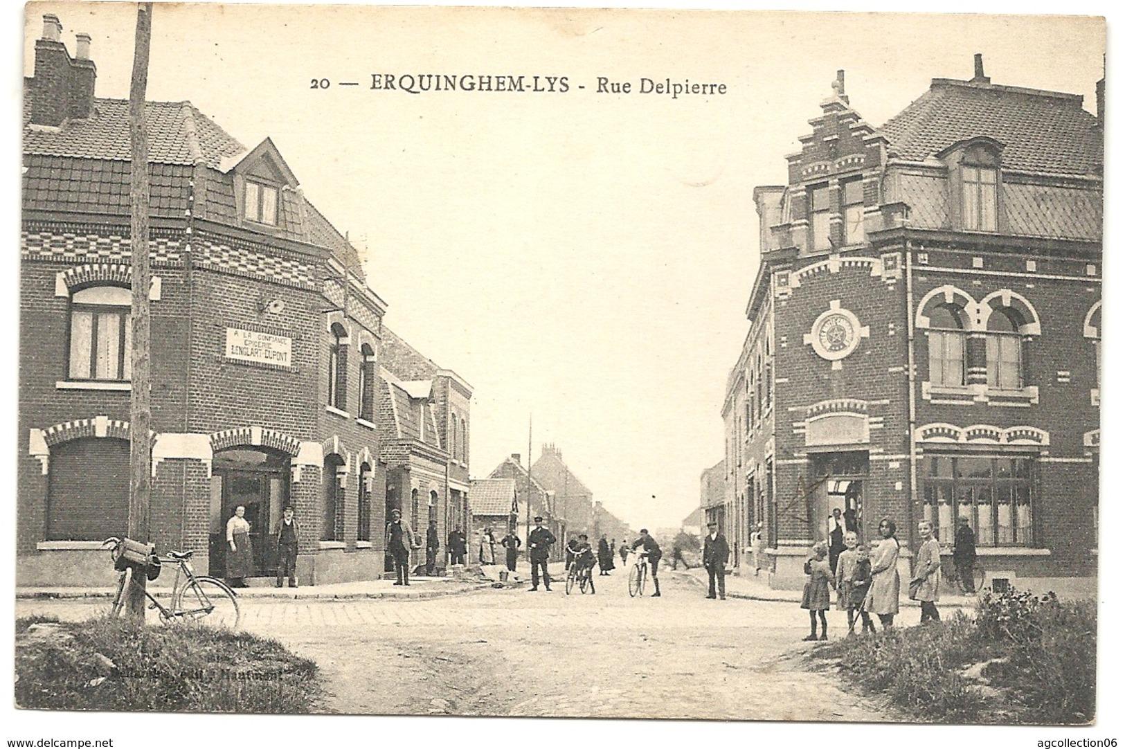 *ERQUINGHEM-LYS. RUE DELPIERRE - France