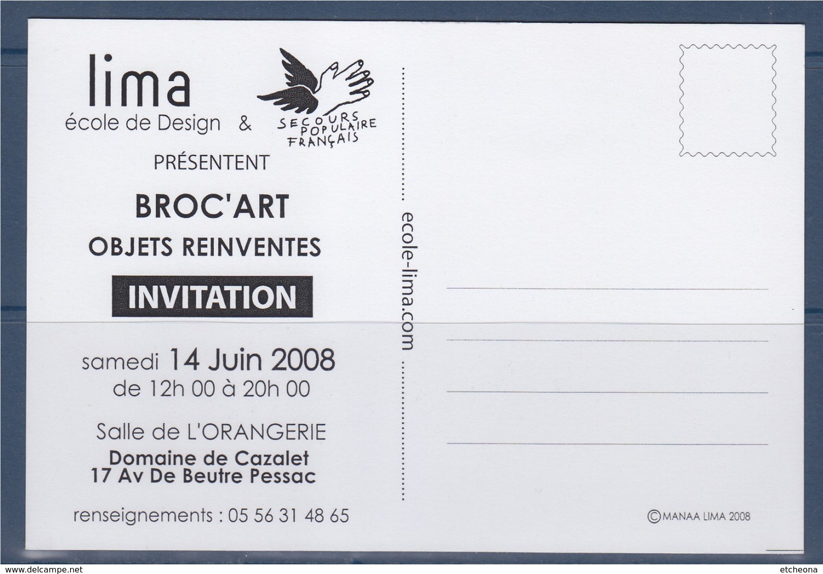 = Broc'Art Par Lima, Ecole De Design, Et Secours Populaire, Objets REINVENTES 2008 Domaine Cazalet Pessac 33 - Sammlerbörsen & Sammlerausstellungen