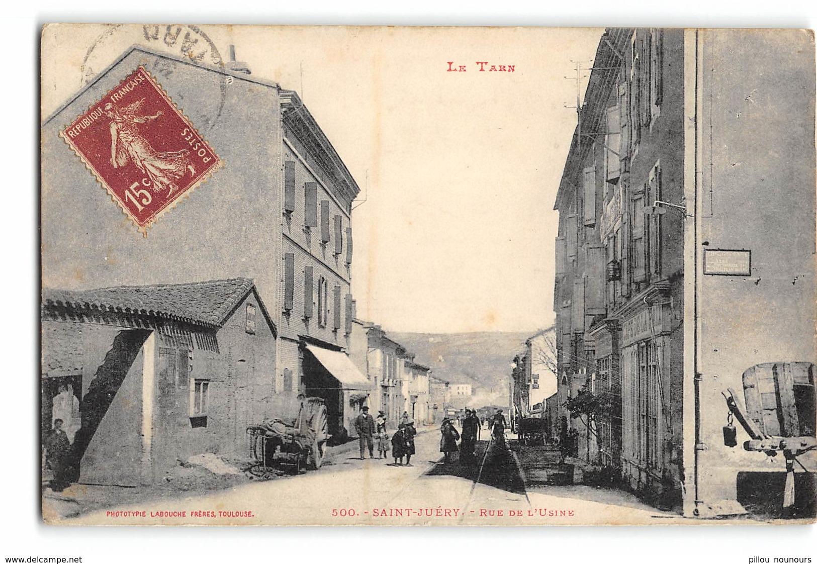 Saint Juery_Rue Des Usines_Etat Superbe. - Autres Communes