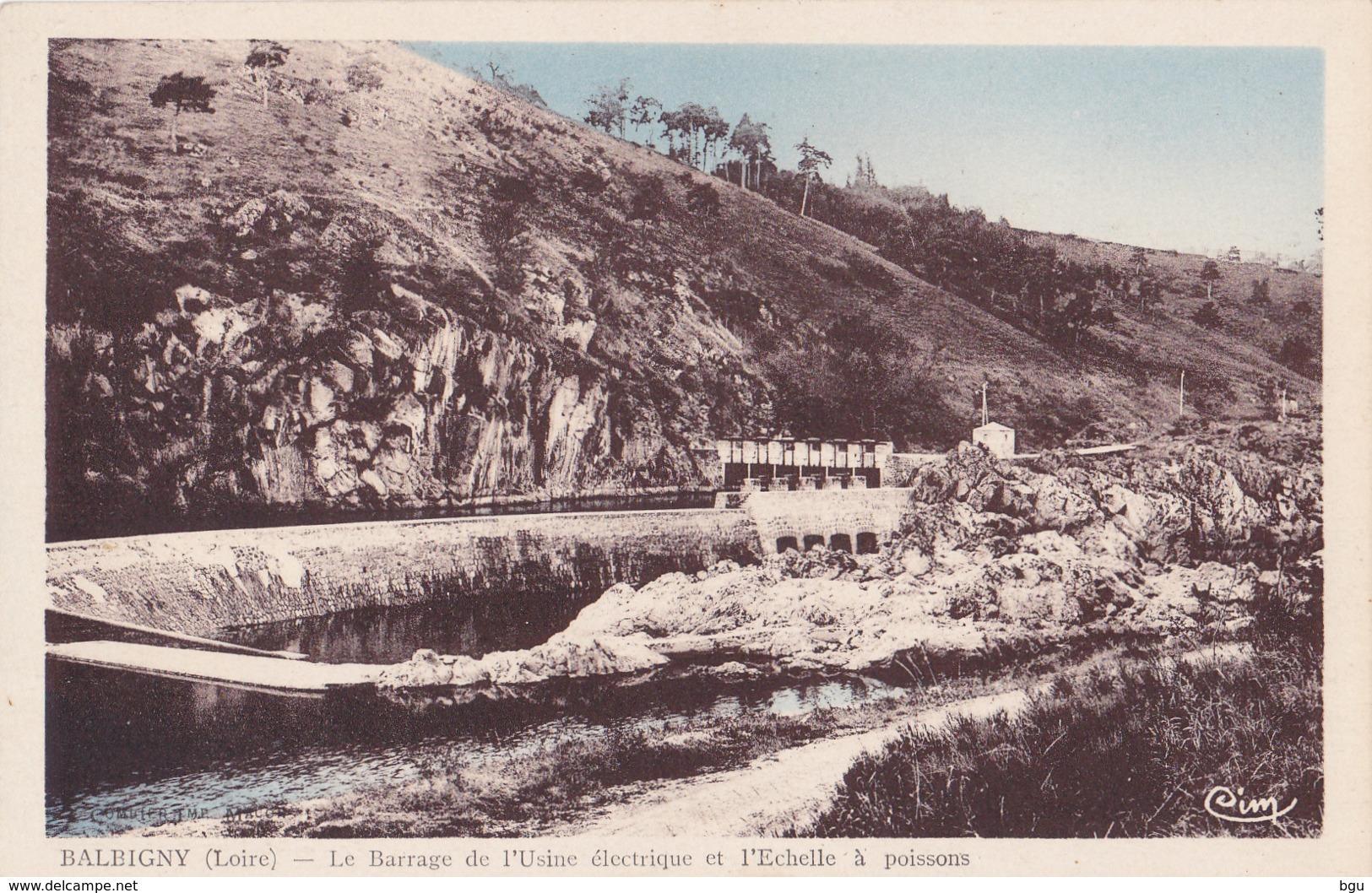 Balbigny (42) - Le Barrage De L'Usine électrique Et L'Echelle à Poissons - Autres Communes