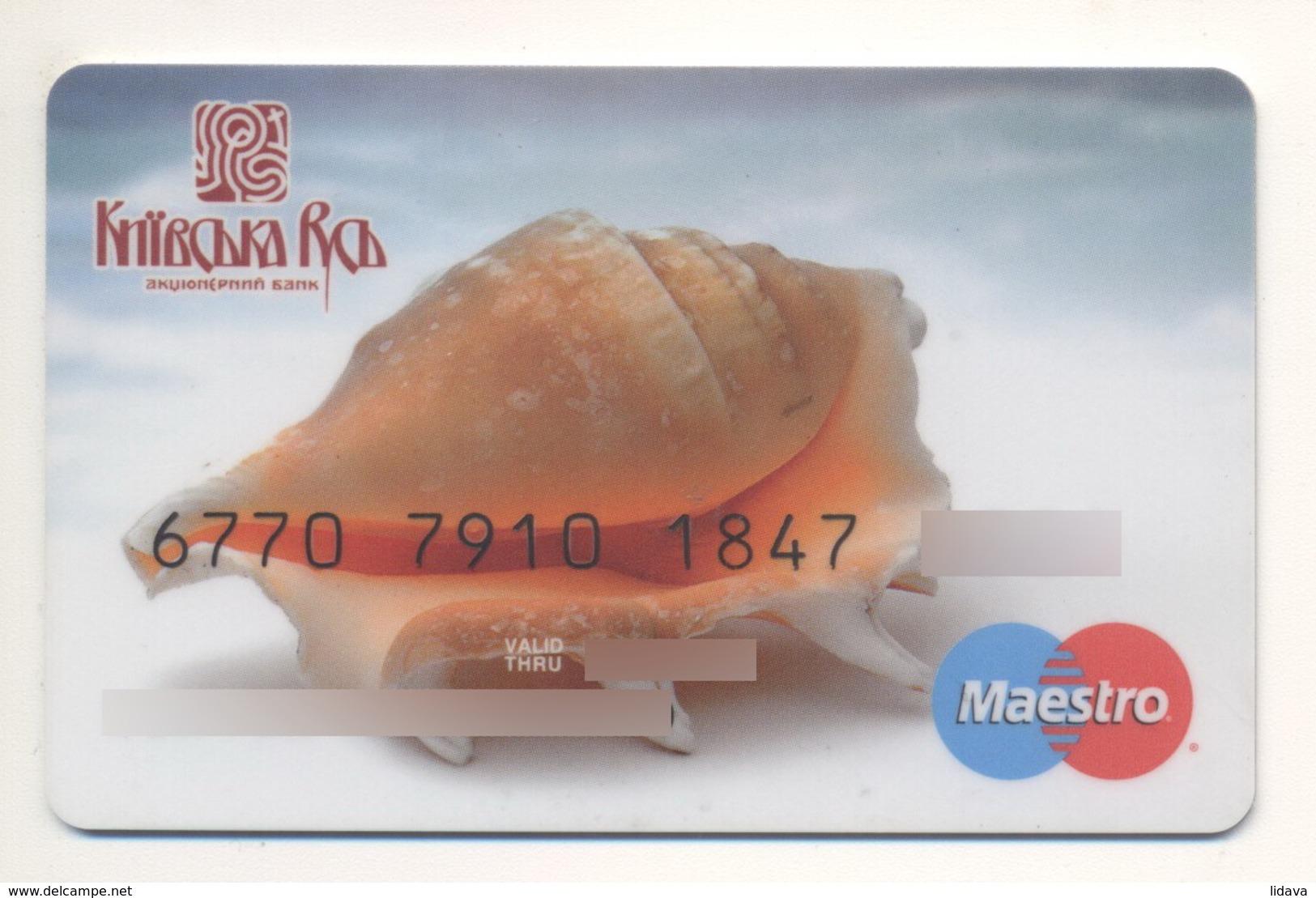 Credit Card Fauna Shell Bankcard Kievan Rus Bank UKRAINE Maestro Expired - Geldkarten (Ablauf Min. 10 Jahre)