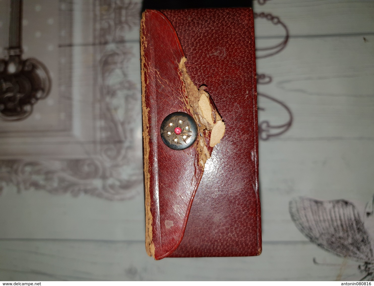 Rare Boite De Parfum Coty En Cuir - Miniature Bottles (in Box)