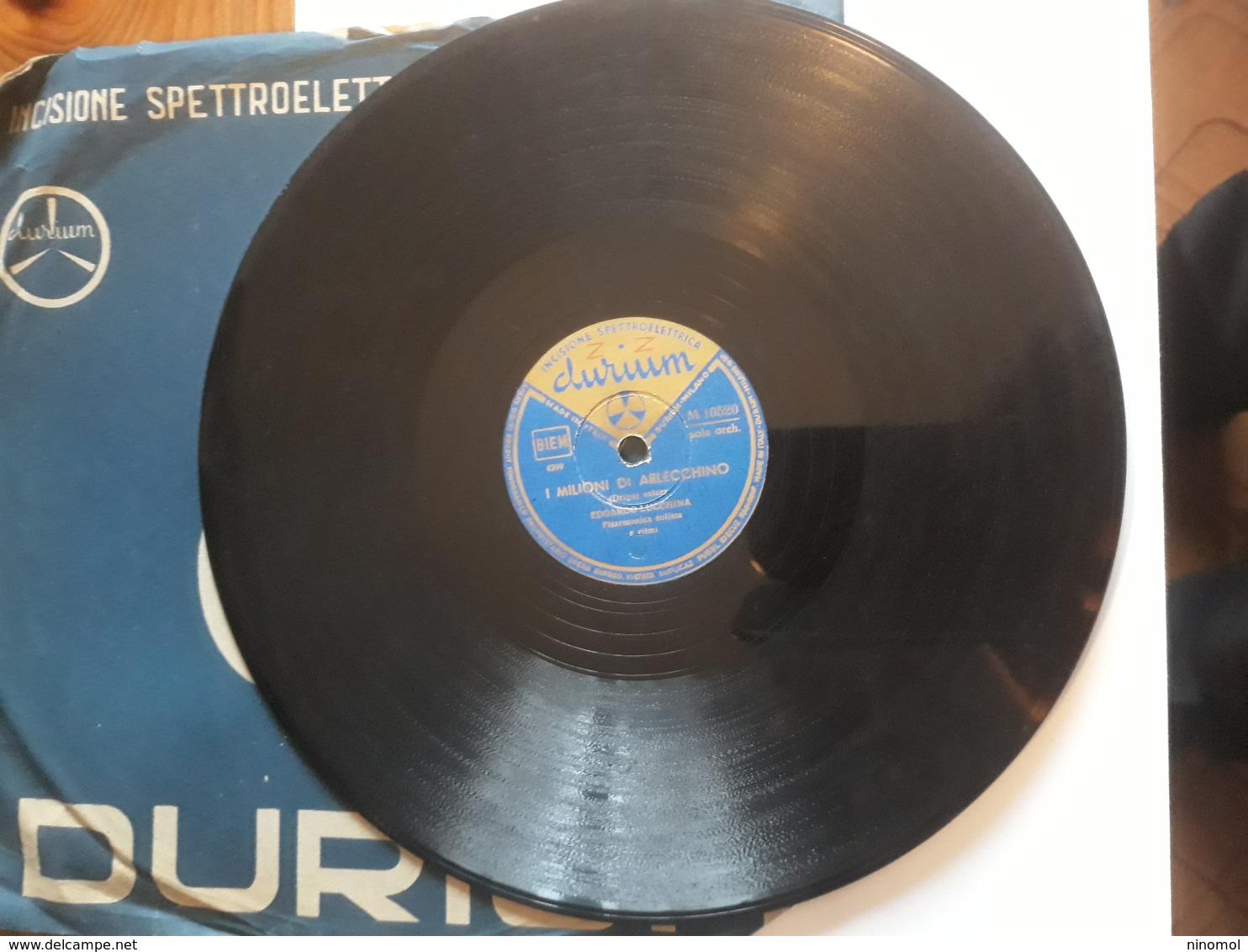 Durium   -   1953.  Serie M  Nr. 10520. Fisarmonica Solista Edoardo Lucchina - 78 G - Dischi Per Fonografi