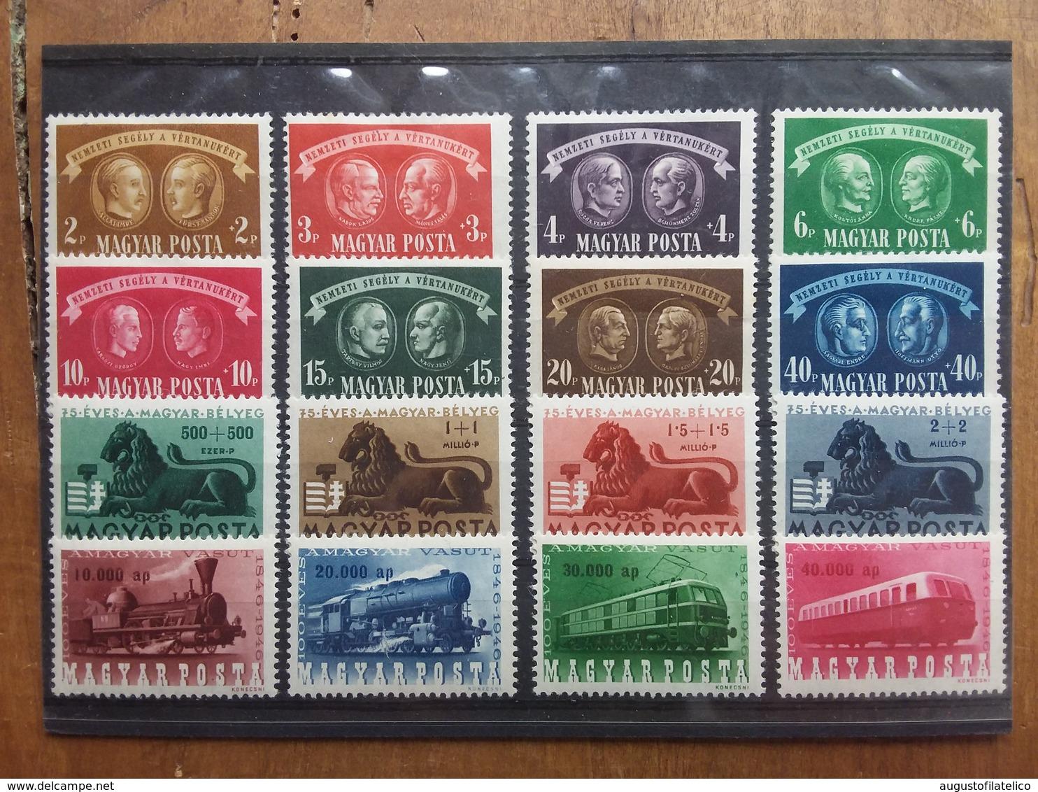 UNGHERIA Anni '40 - 3 Serie Complete Nuove * - Nn. 836/43 - 893/96 - 943/46 + Spese Postali - Ungheria