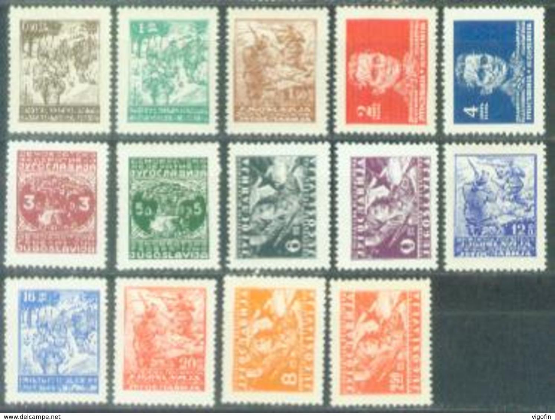 YU 1945-470-85 DEFINITIVE, YUGOSLAVIA, Michel # 470-85, 16v, Mint, ** - 1945-1992 Repubblica Socialista Federale Di Jugoslavia