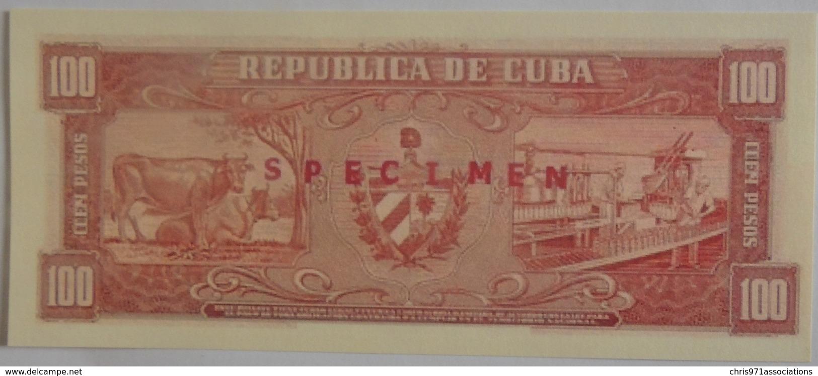 Trés Rare Billet De Cuba 100 Pesos 1960 Ou 1961 Spécimen Neuf/UNC Signé Par Le Che NON REPERTORIE - Cuba