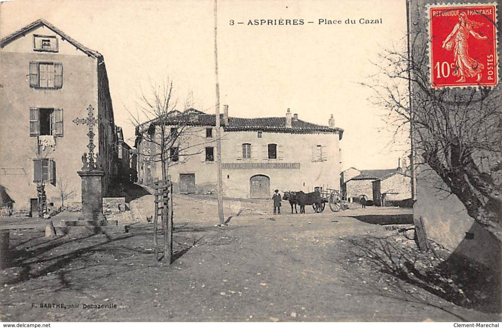 ASPRIERES : Place Du Cazal - Tres Bon Etat - France