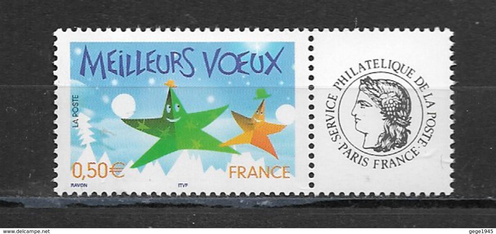 France  2004 Neuf *   Feuillet De 5  Timbres  3722A    Logo  Ceres -  Meilleurs Voeux -  ( Gomme Brillante ) - Frankreich