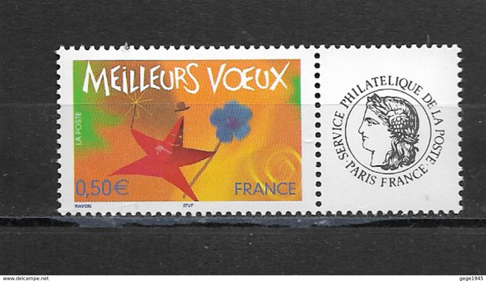 France  2004 Neuf *   Feuillet De 5  Timbres  3724A    Logo  Ceres -  Meilleurs Voeux -  ( Gomme Brillante ) - Personalisiert