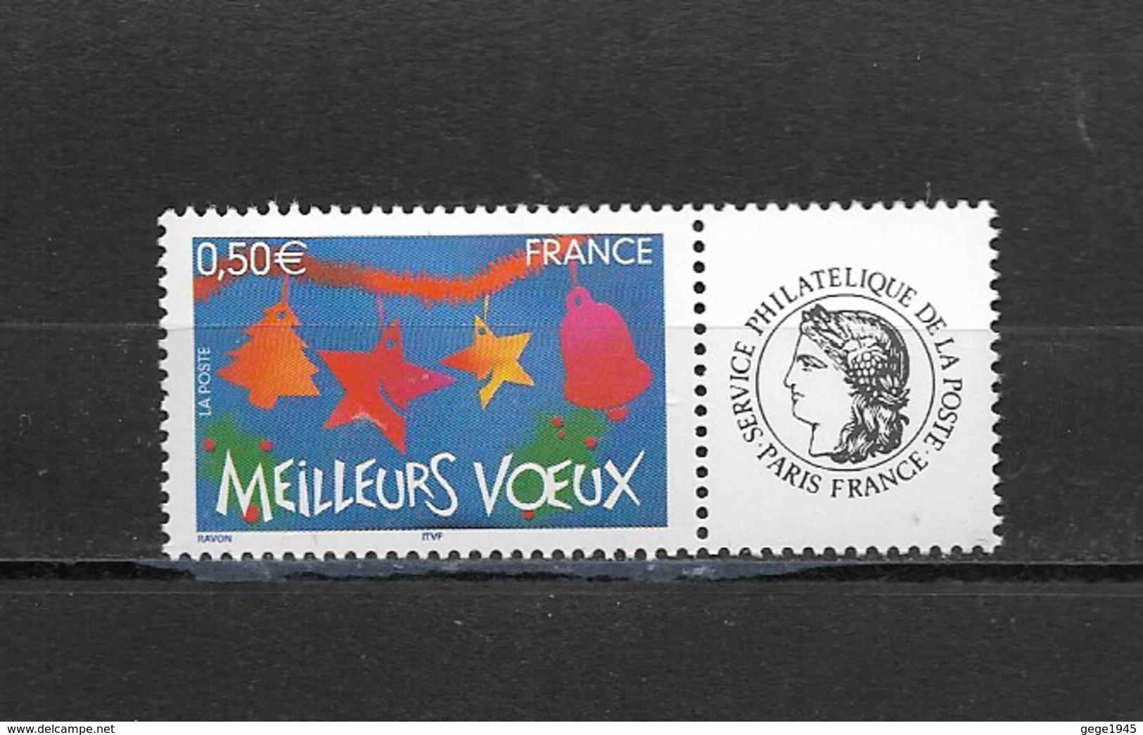 France  2004 Neuf **  Feuillet De 5  Timbres  3725A    Logo  Ceres -  Meilleurs Voeux -  ( Gomme Brillante ) - Personalisiert