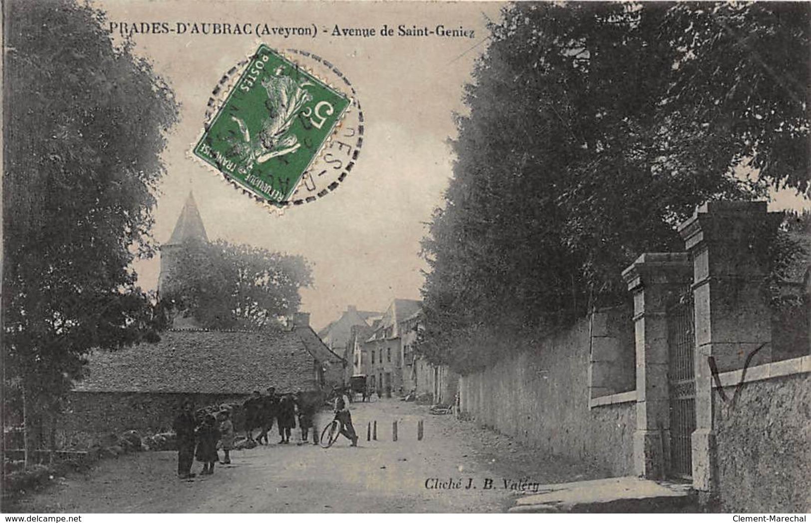 PRADES-D'AUBRAC : Avenue De Saint-geniez, Jeu De Quilles - Tres Bon Etat - France