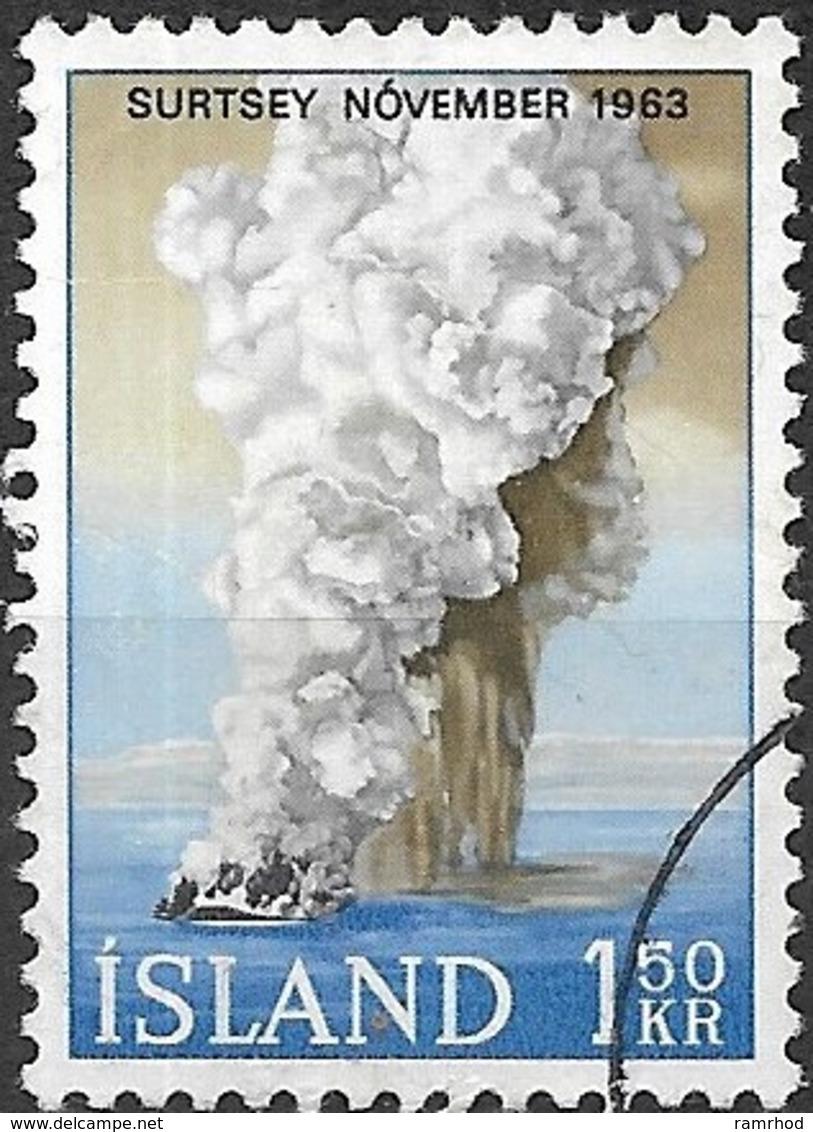 ICELAND 1965 Birth Of Surtsey Island - 1k50 Eruption, November 1963 FU - 1944-... Republique